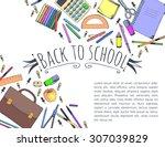 hand drawn seamless pattern... | Shutterstock .eps vector #307039829