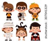 set of cartoon characters for... | Shutterstock .eps vector #307041329