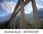 modern speedway in swiss alps ... | Shutterstock . vector #307042439