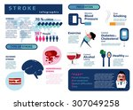 infographic of stroke disease... | Shutterstock .eps vector #307049258