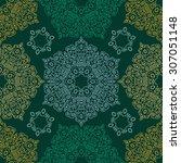 seamless pattern ethnic style....   Shutterstock .eps vector #307051148