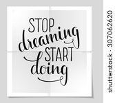 """hand drawn inspirational quote """"... 