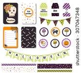 trick or treat halloween... | Shutterstock .eps vector #307067348