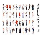 people diversity corporate... | Shutterstock . vector #307071614