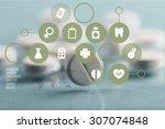 pill. | Shutterstock . vector #307074848