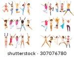 winning idea over white  | Shutterstock . vector #307076780