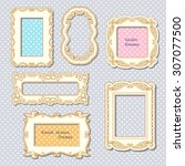 vintage photo frames set ...   Shutterstock .eps vector #307077500