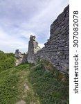 the ruins of the kremenets... | Shutterstock . vector #307082078