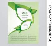 vector eco flyer  poster ... | Shutterstock .eps vector #307089374