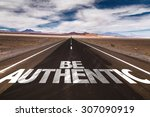 be authentic written on desert... | Shutterstock . vector #307090919