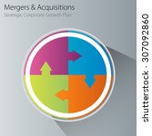 an image of a merger and... | Shutterstock .eps vector #307092860