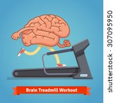 brain working out on a... | Shutterstock .eps vector #307095950