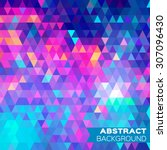 abstract colorful geometric... | Shutterstock .eps vector #307096430
