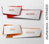 origami paper infographic... | Shutterstock .eps vector #307096820