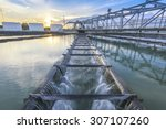 water treatment plant at sunset | Shutterstock . vector #307107260
