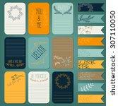 vector set of printable note... | Shutterstock .eps vector #307110050