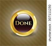 done shiny badge | Shutterstock .eps vector #307111250