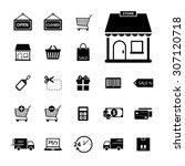 online shopping icon. shopping... | Shutterstock .eps vector #307120718