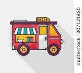 transportation vendor carts... | Shutterstock .eps vector #307121630