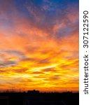 Fiery Orange Sunset Sky....