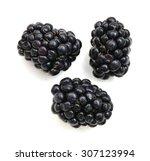 Fresh Blackberry On White...