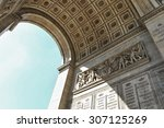 triumphal arch of the star ... | Shutterstock . vector #307125269