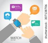 smart watch | Shutterstock .eps vector #307138706