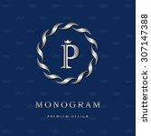 monogram design elements ... | Shutterstock .eps vector #307147388