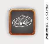 salmon doodle   Shutterstock .eps vector #307164950