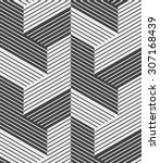 abstract geometric pattern by... | Shutterstock .eps vector #307168439