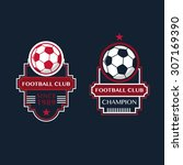 soccer football badges vector... | Shutterstock .eps vector #307169390