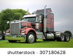 Small photo of ALAHARMA, FINLAND - AUGUST 8, 2015: Kenworth 900A 1976 Aerodyne truck tractor in Power Truck Show 2015.