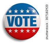 vote usa american election... | Shutterstock . vector #307182920