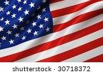 american flag background | Shutterstock . vector #30718372