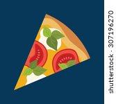 pizza slice. vector illustration | Shutterstock .eps vector #307196270