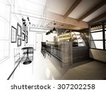 Sketch Design Of Coffee Shop ...
