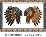 american indian | Shutterstock .eps vector #307217060