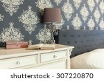 close up of patterned wallpaper ... | Shutterstock . vector #307220870
