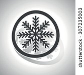 snowflake sign icon  curved ... | Shutterstock .eps vector #307235003