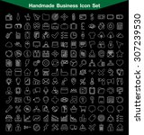 handmade business line icon set | Shutterstock .eps vector #307239530