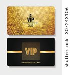 vip textured gold cards | Shutterstock .eps vector #307243106