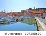 old city and harbor in cannes ... | Shutterstock . vector #307250630