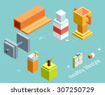 isometric vector illustration... | Shutterstock .eps vector #307250729