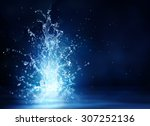 shine source   fantasy of water ... | Shutterstock . vector #307252136