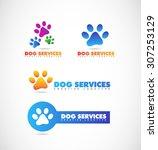 vector company logo icon... | Shutterstock .eps vector #307253129