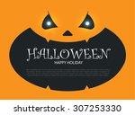halloween party design template ... | Shutterstock .eps vector #307253330