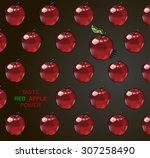 fresh colorful painted tasty...   Shutterstock .eps vector #307258490