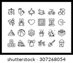 vector icon set in a modern... | Shutterstock .eps vector #307268054