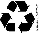 recycling symbol  a sign of the ... | Shutterstock .eps vector #307275869