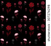 floral vector background | Shutterstock .eps vector #307276298